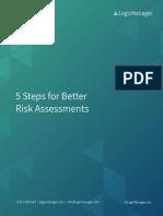 5 Steps for Better Risk Assessments eBook LogicManager