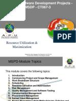 MSDP-05-Resource Utilization and maximization V1.0a.pptx
