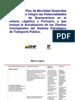 DPN 29 Oct. Plan de Movilidad de Buenaventura, Marco Logico