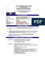 Curriculum Ms. Walter Moreno Eustaquio