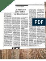 Morán, Gregorio. La Transición Democrática y Sus Historiadores. Articulo de Opinión Del País. 15.04.1992