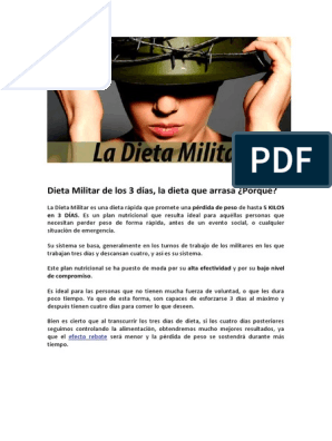 menú de plan de dieta militar