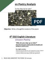 Unseen Literature Poetry