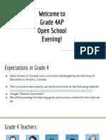 open school evening presentation 2019-2020