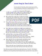 The Elements Song by Tom Lehrer (Lyrics)