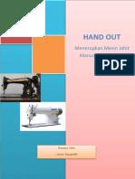 HAND OUT KD 1 Menerapkan Mesin Jahit Manual Dan Industri