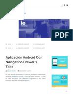 Aplicación Android Con Navigation Drawer Y Tabs
