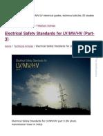 Electrical Safety Standards for LV_MV_HV (Part-3)