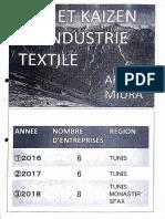 Projet Kaizen dans l'industrie de textile