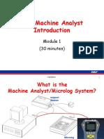 Machine Analyst Introduction