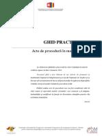 Ghid Practic. Modele de Acte de Procedura in Materie Civila