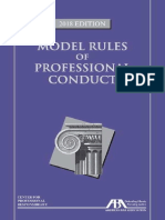 American Bar Association - Model Rules of Professional Conduct-ABA Book Publishing (2018)