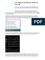 Delete or Clear Jump List Recent Items in Windows 7 8 10