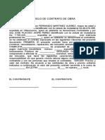Modelo de Contrato de Reparaciones