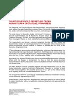 2019PressRelease Hold Departure Order Issued Against KAPA Scam Operators 07042019