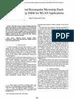 Karade, Zade - 2015 - A Miniaturized Rectangular Microstrip Patch Antenna Using SSRR for WLAN Applications