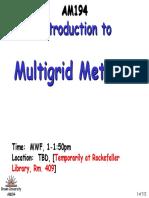 Multigrid Intro