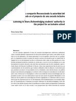 Escuchar para compartir. Reconociendo la autoridad de la voz del alumnado...pdf
