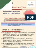 Chapter 8 MySQL Revision