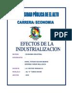 INFORME EFECTOS DE LA INDUSTIALIZACION.doc