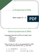 Closure Prop Dfa