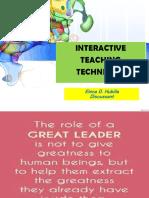 Interactive Teaching Techniques