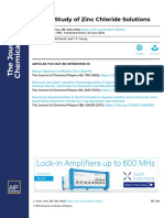 Raman Study of Zinc Chloride Solutions