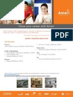 Amari Job Ad Mid Septmeber - Multiple Position