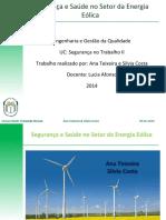 SEGURANÇA  E SAUDE NO SETOR DE ENERGIA