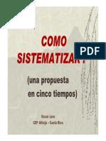 Como Sistematizar una propuesta en cinco tiempos.pdf