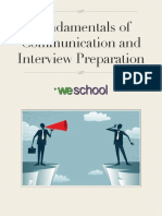 fundamentals of communication and interview preparation