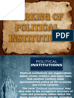 Working of Political Institutions PPT