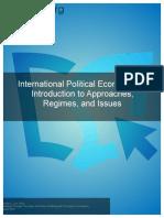 InternationalPoliticalEconomy AnIntroductiontoApproachesRegimesandIssues Single