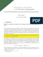 Exercícios de Mec analítica
