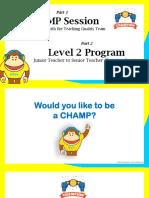 1 Day Level 2 Program