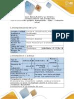 Guía de Actividades y Rubrica de Evaluación - Paso 1 - Evaluación Inicial