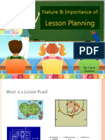 Nature and Importance of Lesson Planning.pptx
