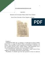 relatorio governo Pilatos