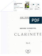 Metodo Elemental de Clarinete. Jose Franco Ribate