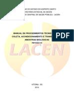 Manual Coleta e Transporte LACEN Revisado Outubro 2014