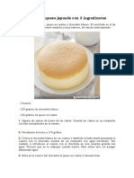 Pastel de Queso Japones Con 3 Ingredientes
