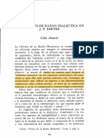Celia Amorós, El Concepto de Razon Dialéctica en J. P. Sartre