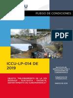 Pliego de Condiciones Definitivo Iccu-lp-014-2019
