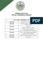 official mun locals schedule  2
