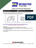 TI 07 002 DF Adjustment