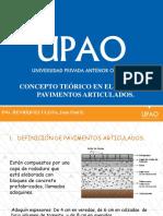 Concepto Teórico en El Diseño de Pavimentos Articulados.