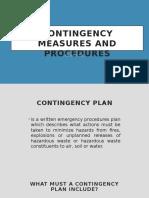 Contingency Measures and Procedures