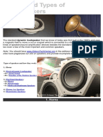 History and Types of Loudspeakers