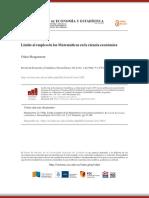 Morgenstern. Límite Al Empleo de Las Matemáticas en La Ciencia Económica - Revista de Economia y Estadistica_.PDF