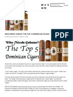Who Needs Cuban_ the Top 5 Dominican Cigars - Cuenca Cigars, Inc